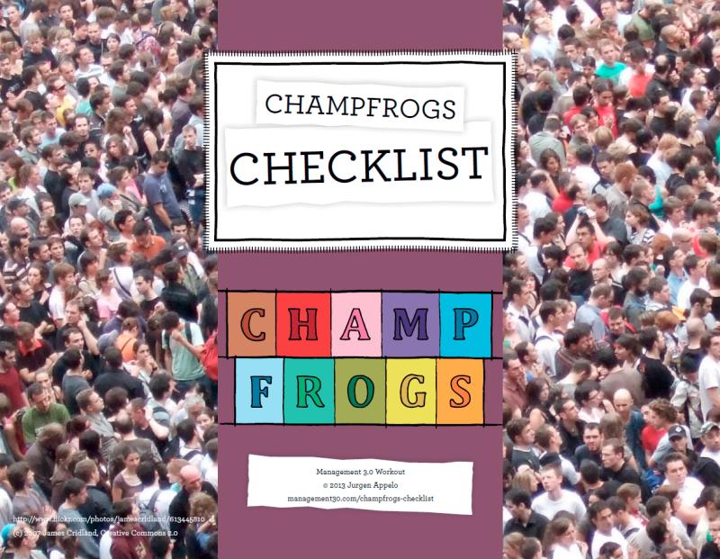 Champfrogs Checklist