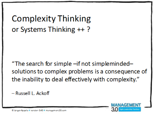Complexity-thinking